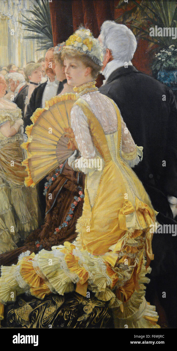 James Tissot - Evening Le Bal - 1878 - Stock Image
