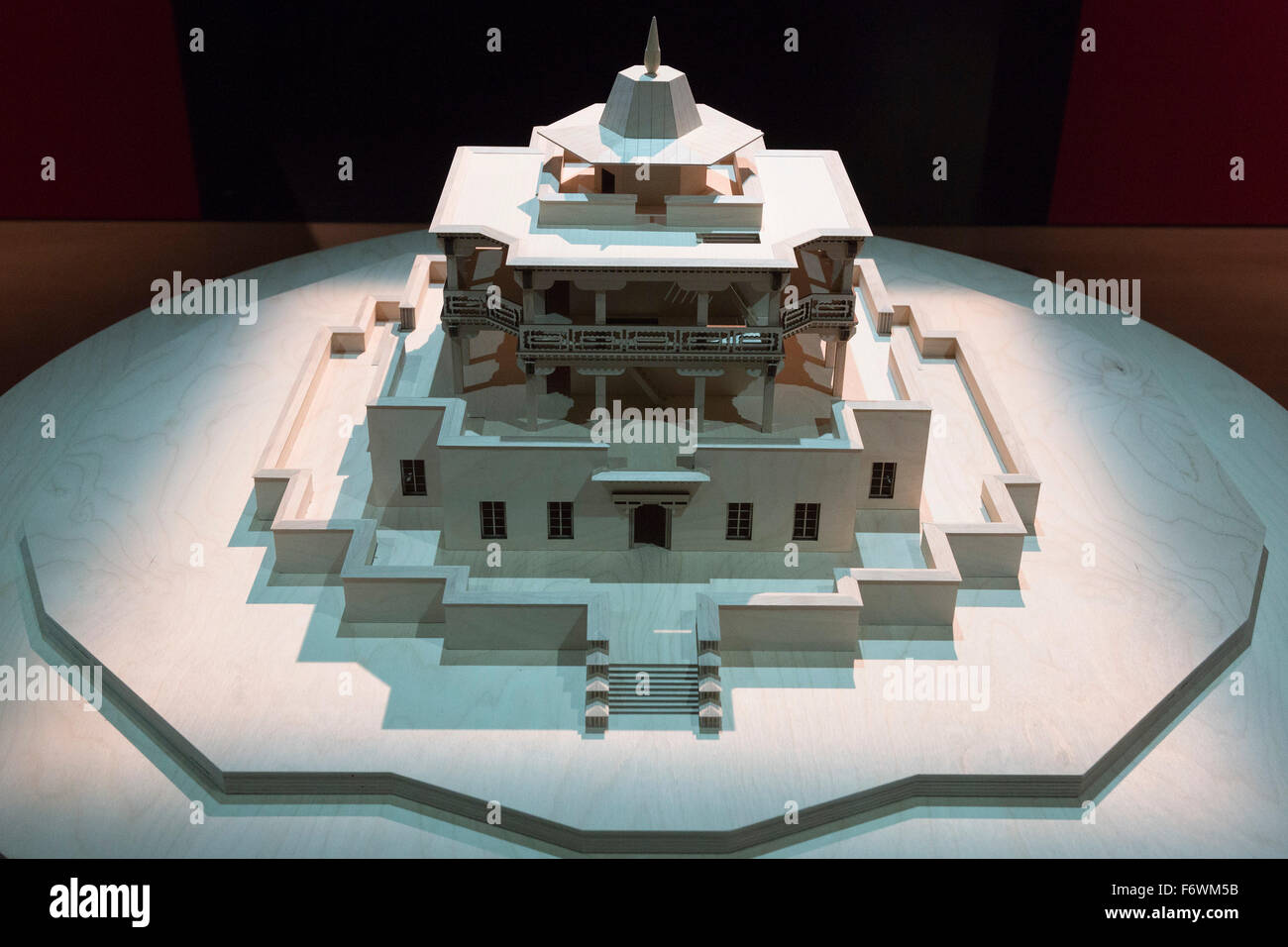 London, UK. 18 November 2015. Model of Lukhang. Press preview of the exhibition Tibet's Secret Temple: Body, - Stock Image