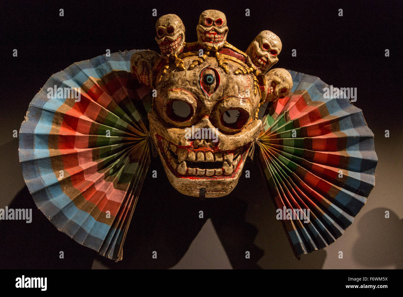 London, UK. 18 November 2015. Skull mask. Press preview of the exhibition Tibet's Secret Temple: Body, Mind - Stock Image