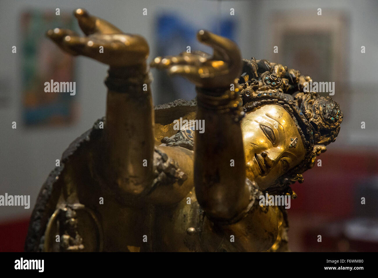 London, UK. 18 November 2015. Sculpture of Nagaraja. Press preview of the exhibition Tibet's Secret Temple: - Stock Image
