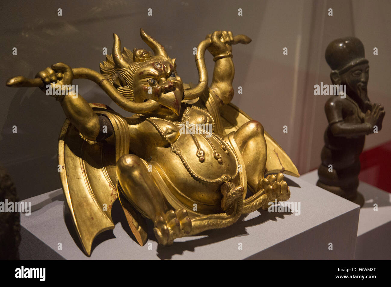 London, UK. 18 November 2015. Garuda sculpture. Press preview of the exhibition Tibet's Secret Temple: Body, - Stock Image