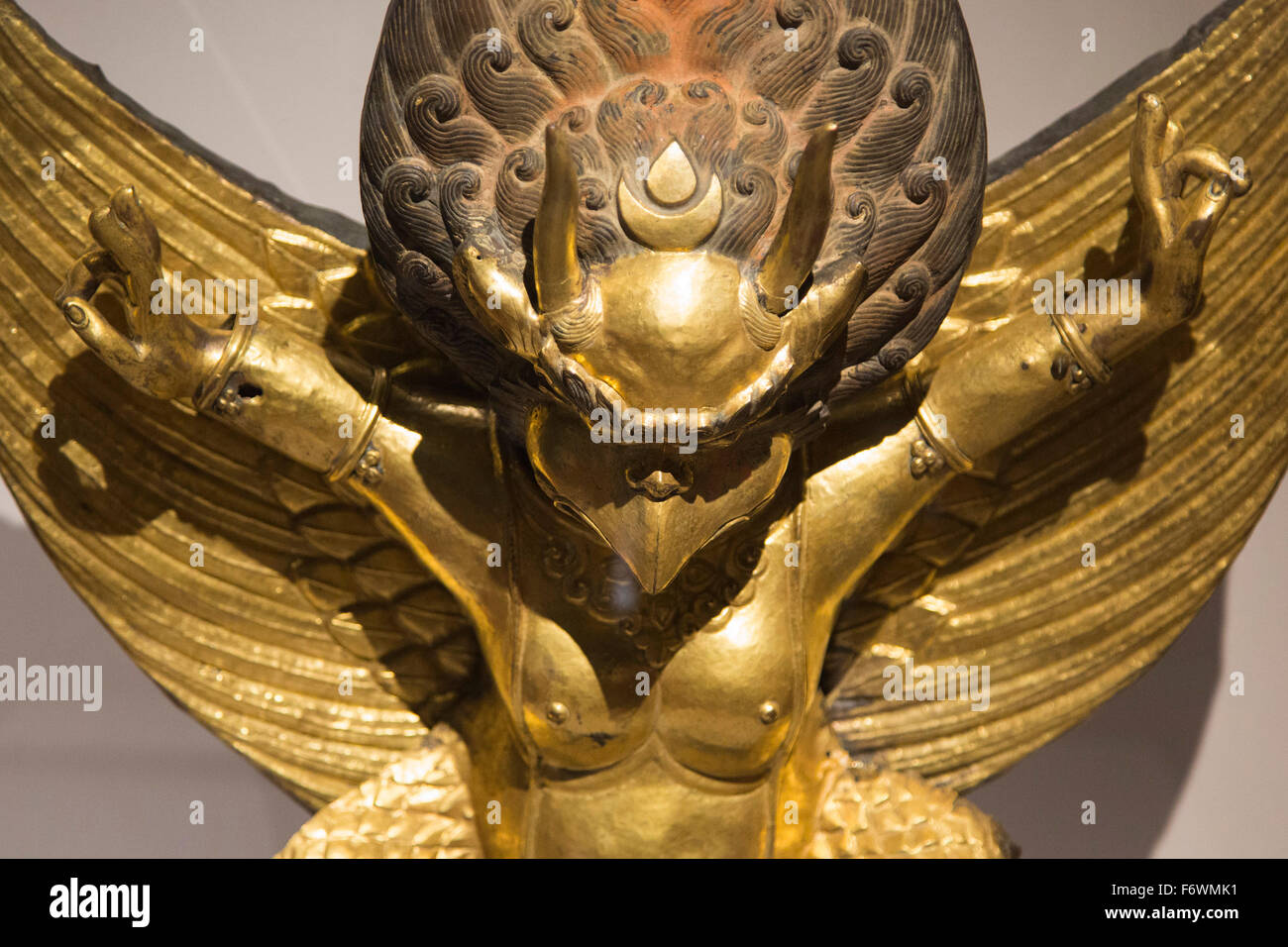 London, UK. 18 November 2015. Pictured: Garuda sculpture. Press preview of the exhibition Tibet's Secret Temple: - Stock Image