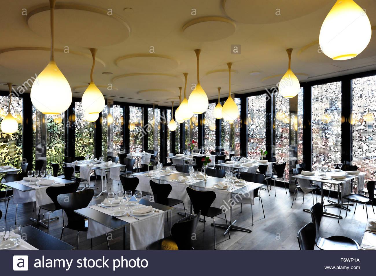Interior decoration, Arturo Restaurant to La CaixaForum Madrid Stock ...