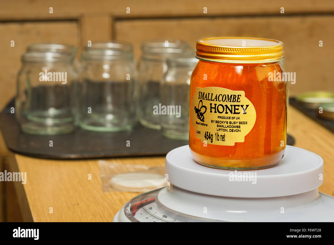 Bee keeping,honey production, - Stock Image