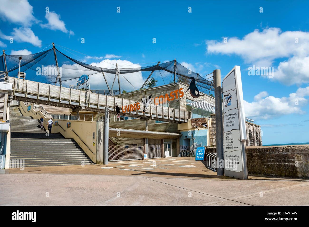 Living Coasts aquarium and Aviary, Torquay, Torbay, England, UK | Living Coasts Aquarium in Torquay, Torbay, England, - Stock Image