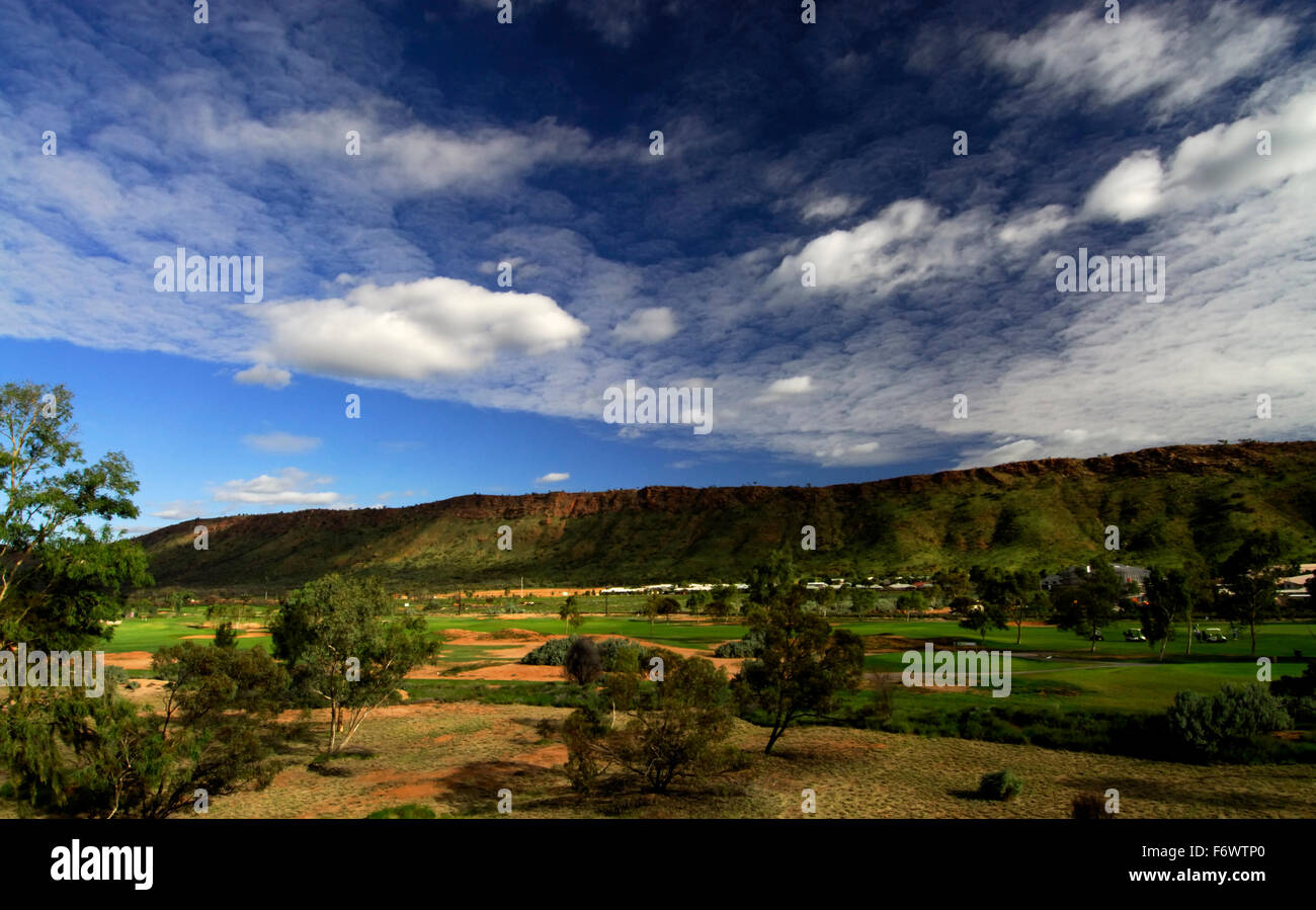 A view of Alice Springs in the Northern Territory Australia - Stock Image
