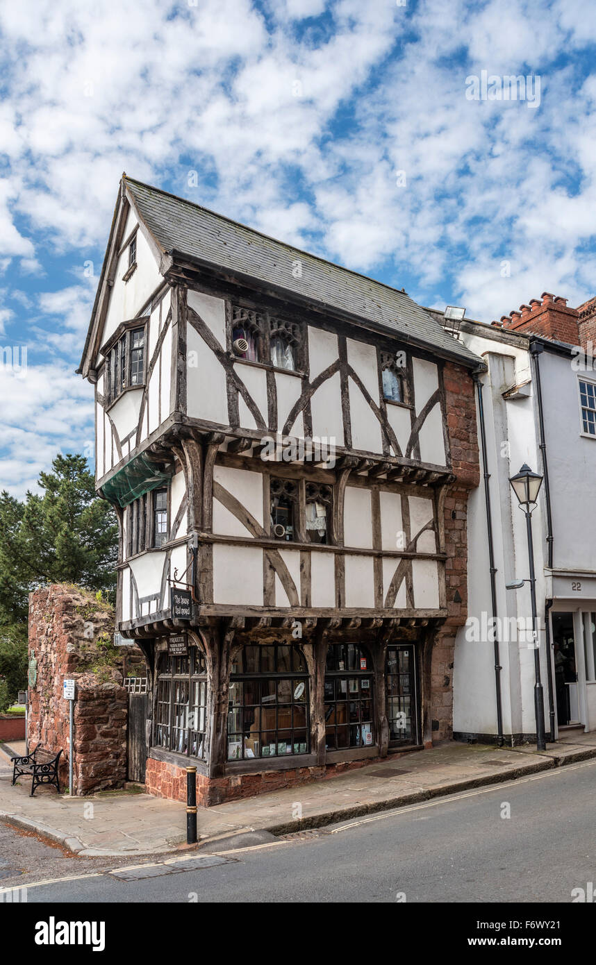 'The house that moved' is one of the oldest surviving houses in Exeter, Devon, England, UK - Stock Image