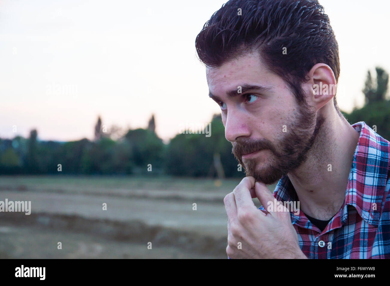 Man shows doubts - Stock Image