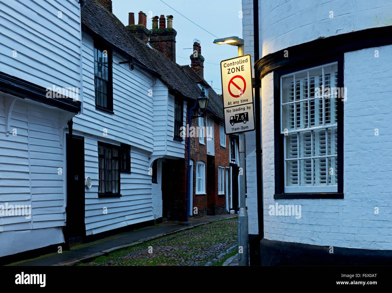 Controlled zone - no loading - in Rye, Kent, England UK - Stock Image