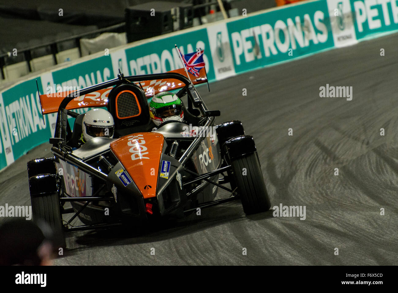 London, UK. 20th Nov, 2015. Triple British Touring Car Champion Andy Priaulx of England drives during ROC Nations Stock Photo