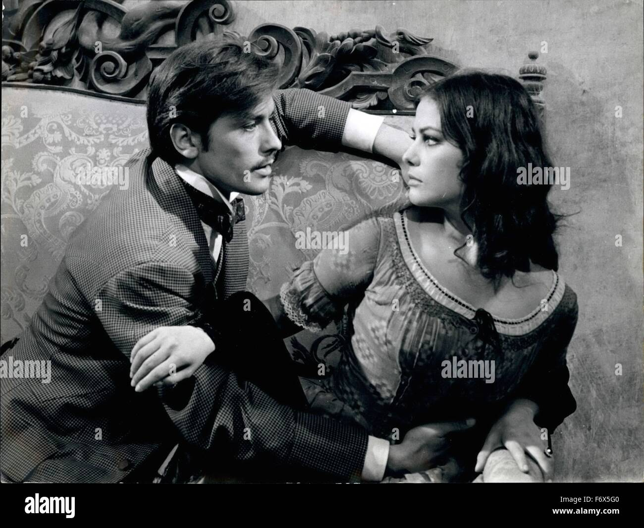 November 1962 - Rome - At Bassan di Sutri, a little Country near Home Luchimo VISCONTI, the famous Italian director - Stock Image
