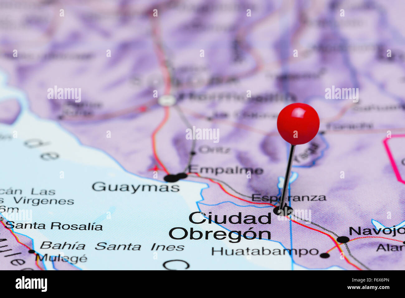 Obregon Mexico Map.Ciudad Obregon Pinned On A Map Of Mexico Stock Photo 90315869 Alamy