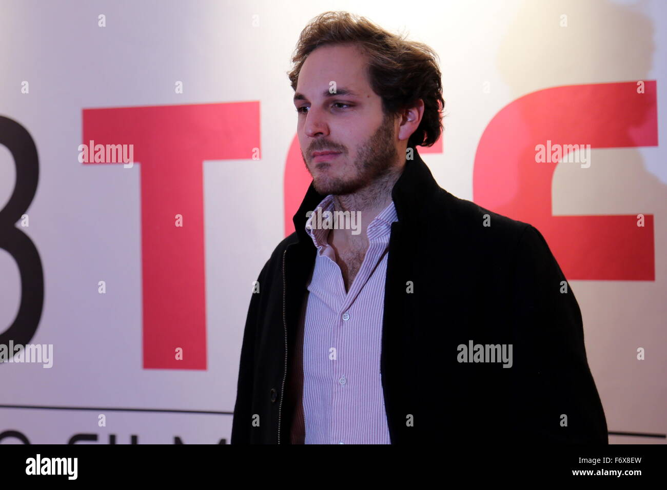 Torino, Italy. 20th Nov, 2015. Jan Ole Gerster, director and writer during the opening night of the 33rd Turin Film - Stock Image