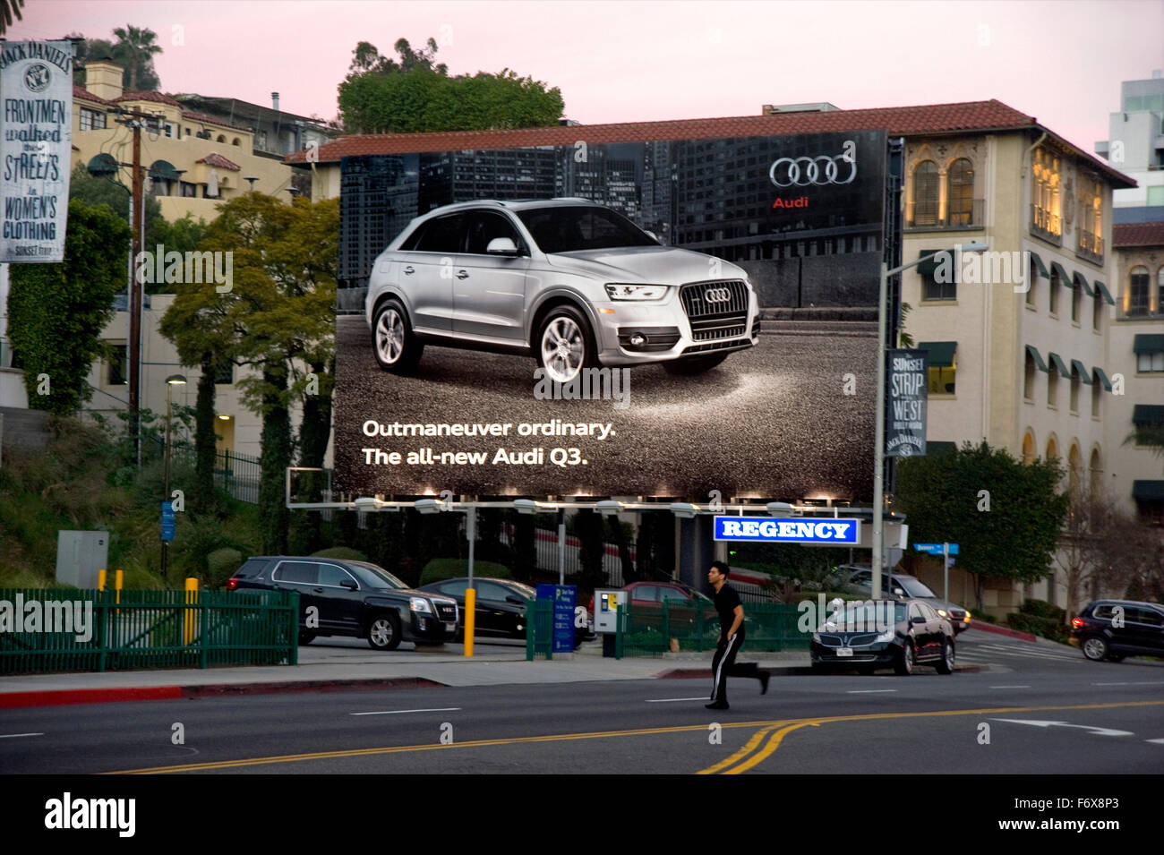 Audi Billboard on the Sunset Strip - Stock Image