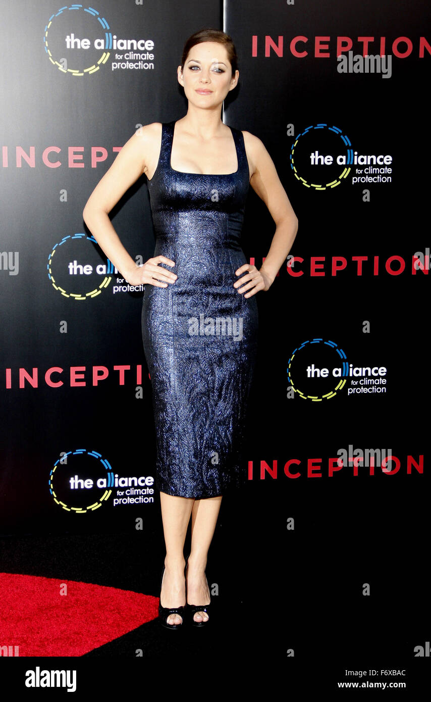 Marion Cotillard At The Los Angeles Premiere Of Inception