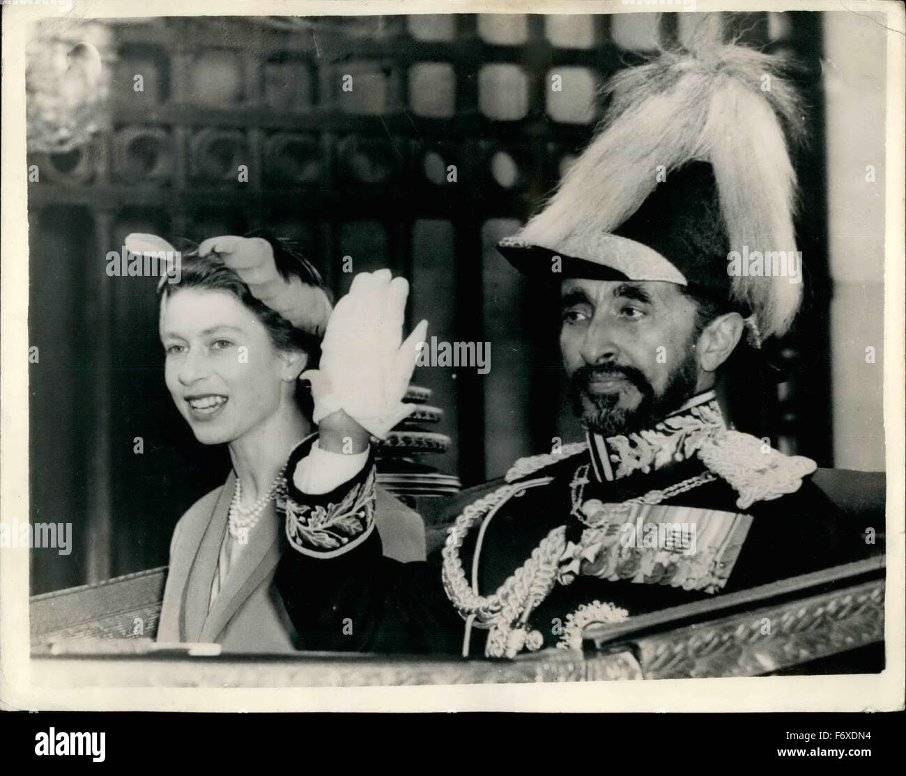 1954 - Haile Selassie At The Palace  Emperor Of Ethiopia