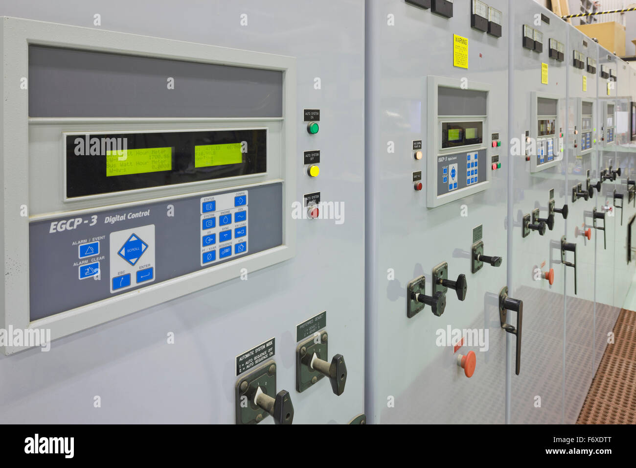 Control panel, electrical Power Plant, Sand Point, Southwestern ...
