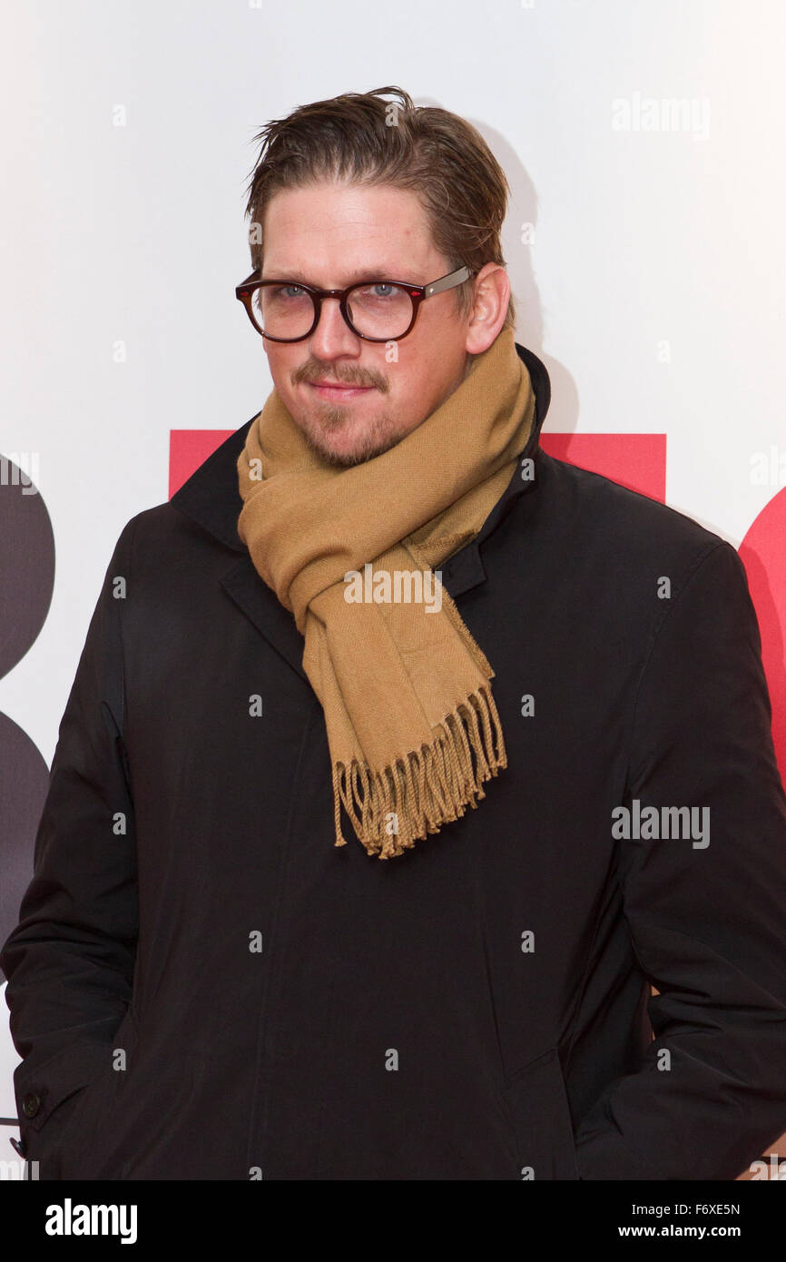 Turin, Italy. 20th Nov, 2015. Torino, Italy. 20th November 2015. Film director Jan Ole Gerster on red carpet during - Stock Image