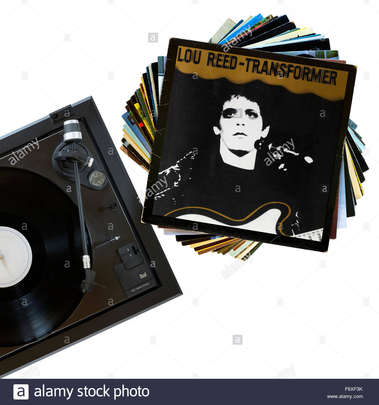 Lou Reed 1972 Album Transformer, record player and album