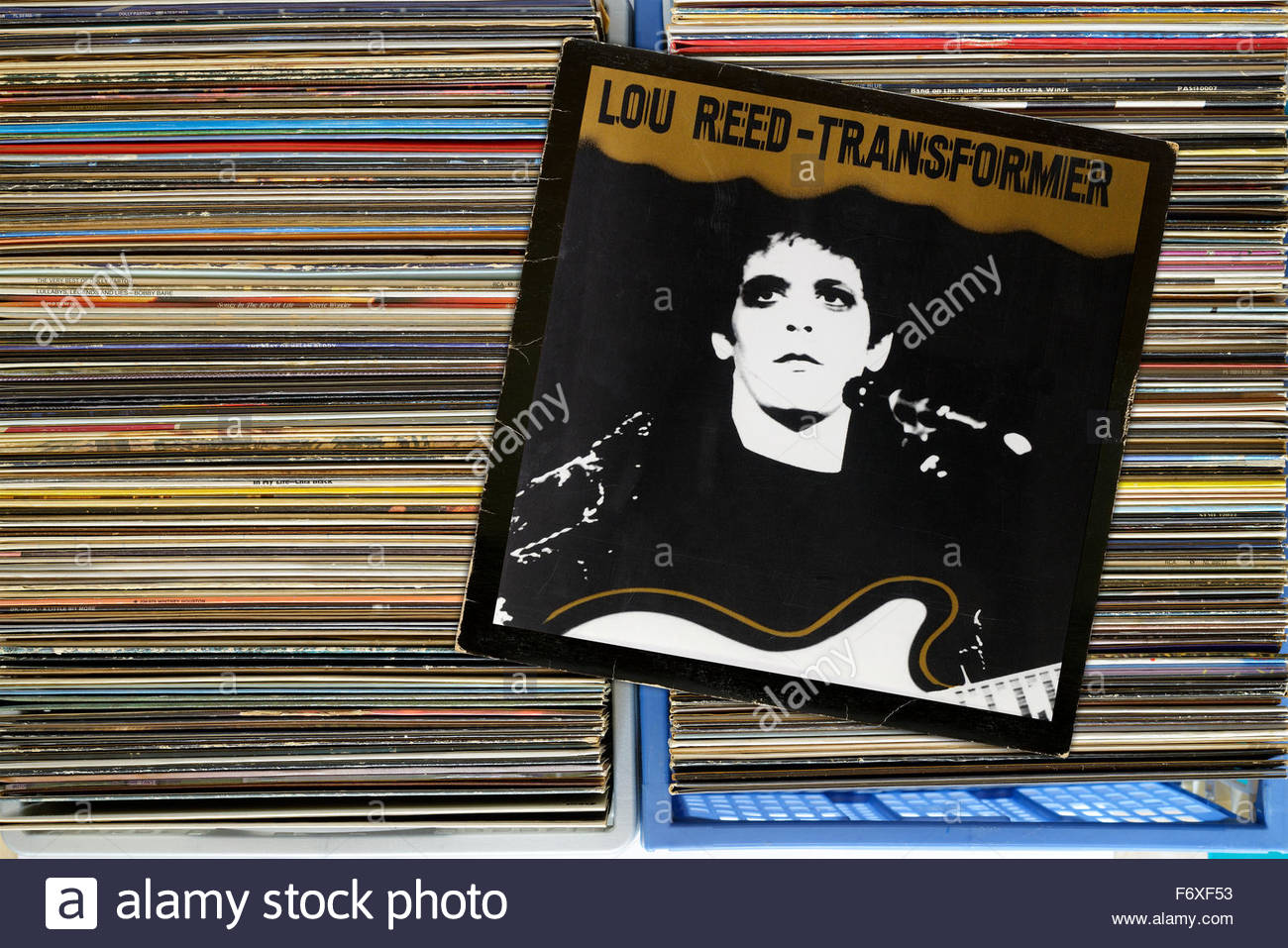 Lou Reed 1972 Album Transformer, albums in a box of second