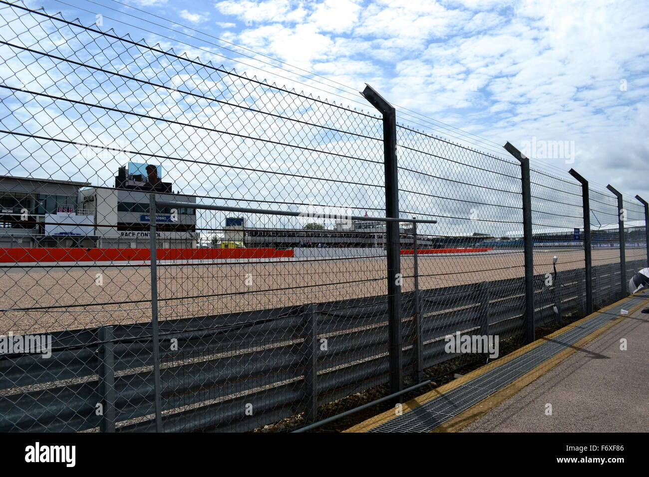 Silverstone track on a bright summers day at the british grand prix - Stock Image