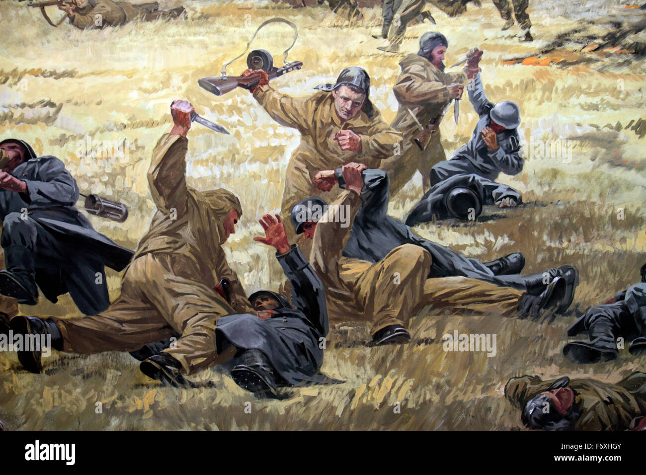 Typical display diorama in the Museum of the Great Patriotic War, Park Pobedy (Victory Park), Moscow Russia. - Stock Image