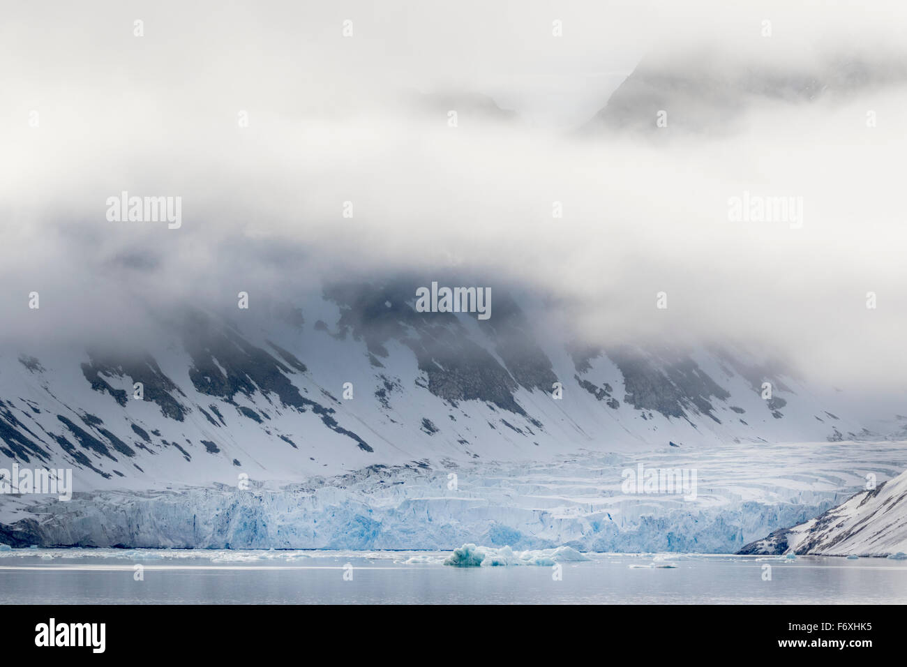 Magdalenenfjord, view over the glacial arms, Svalbard, Spitzbergen, Norway, Europe - Stock Image