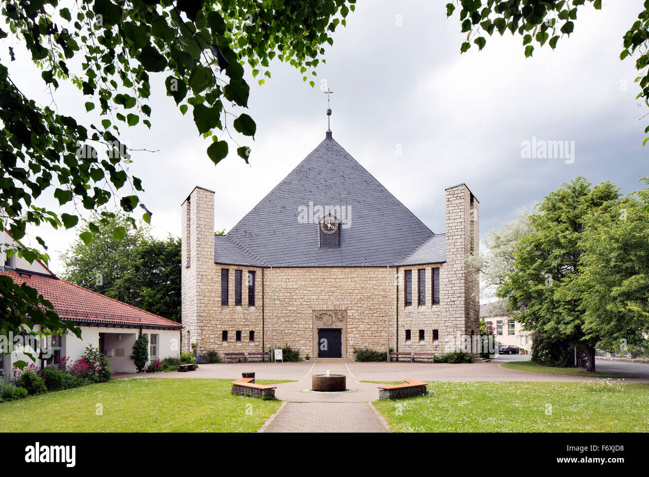 Evangelical Lutheran Trinity Church, Bad Staffelstein, Upper Franconia, Bavaria, Germany - Stock Image