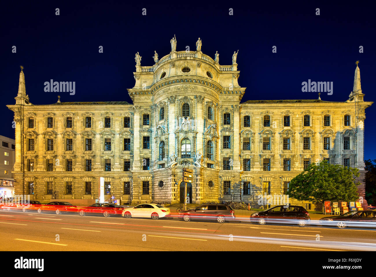 Palace of Justice, built in 1897, now a service building, Bavarian State Ministry of Justice, Munich, Upper Bavaria, - Stock Image