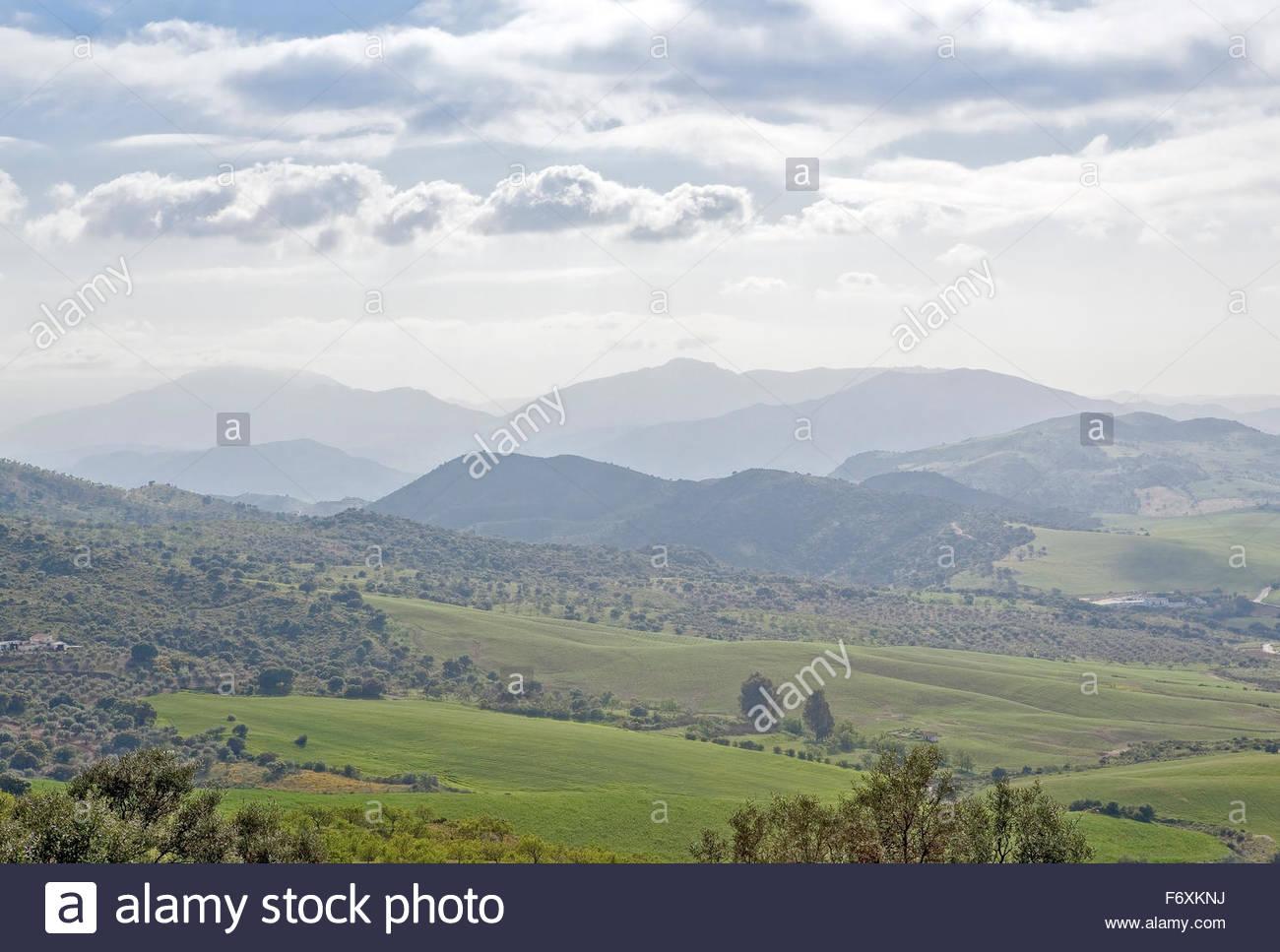 Beautiful Spanish landscape - Stock Image