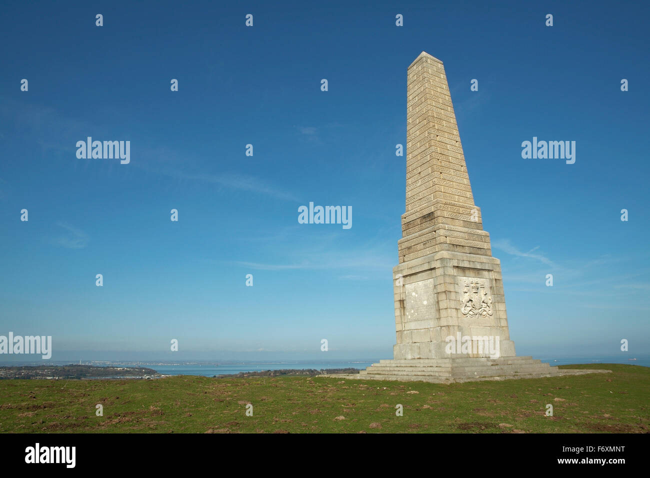 shot of Yarborough Monument on culver down Stock Photo
