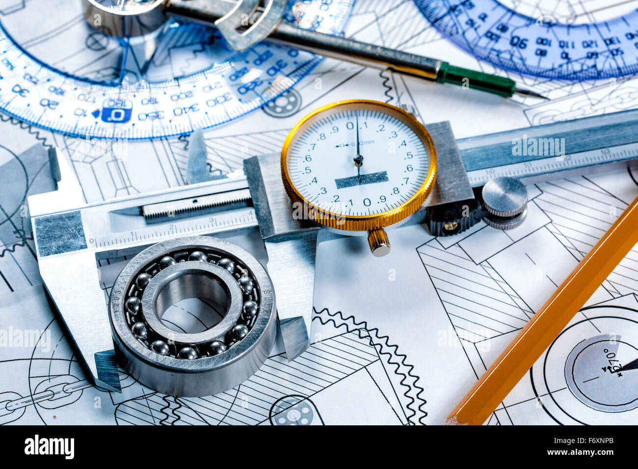 Technical drawing and tools Stock Photo: 90327619 - Alamy