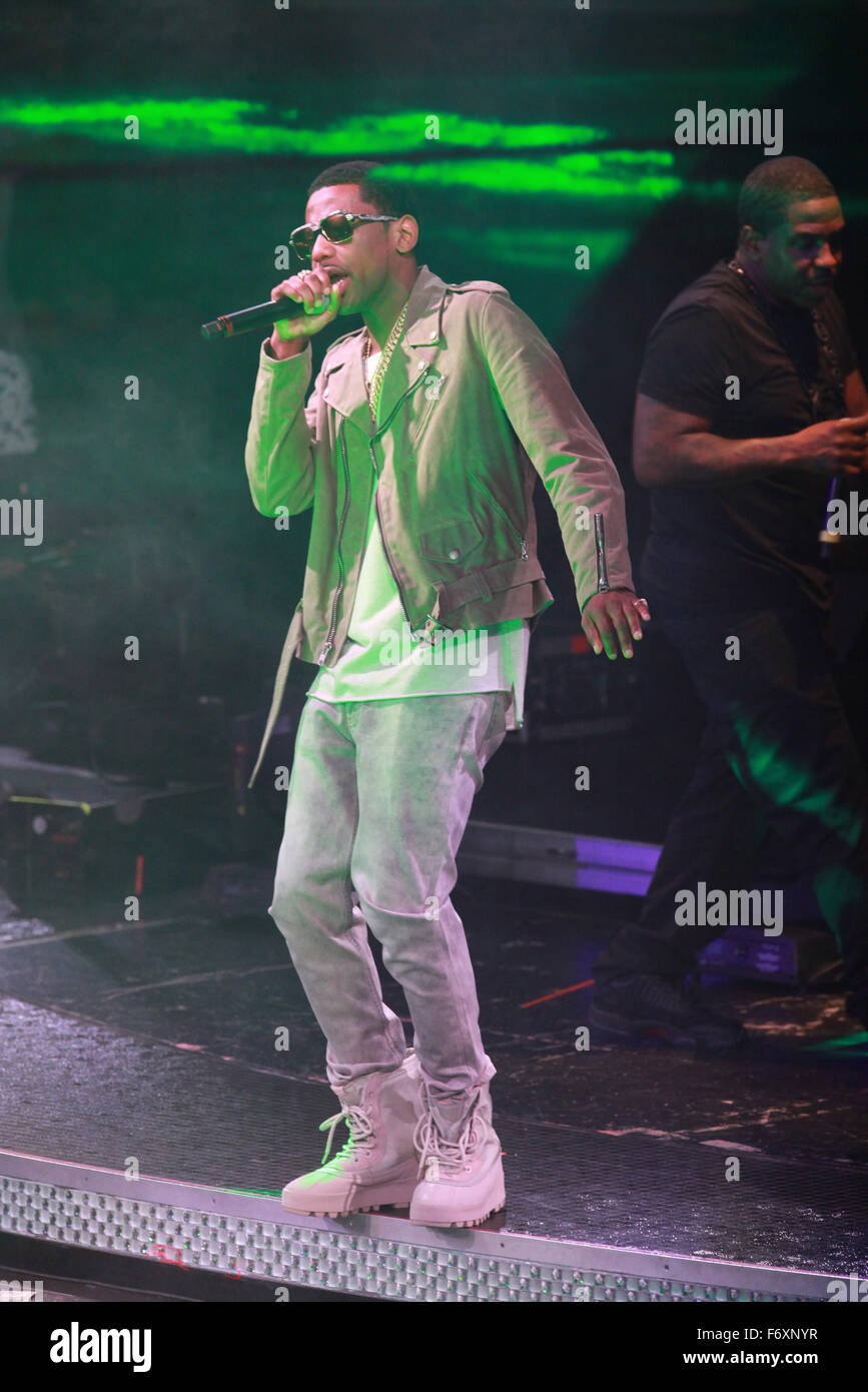 Las Vegas, Nevada, USA. 21st Nov, 2015. Rapper Fabolous celebrates his 38th birthday with a performance at Drai's - Stock Image
