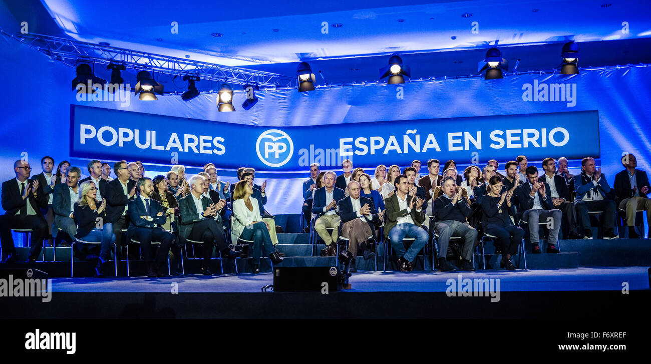 Barcelona, Catalonia, Spain. 21st Nov, 2015. The official presentation of the PP's (People Party) candidates for Stock Photo