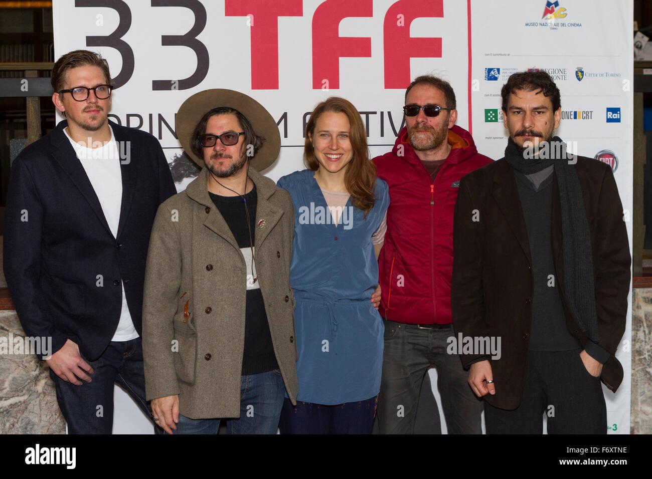 Torino, Italy. 21st November 2015. The jury of Torino Film Festival: (from left to right) Jan Ole Gerster, Corin - Stock Image