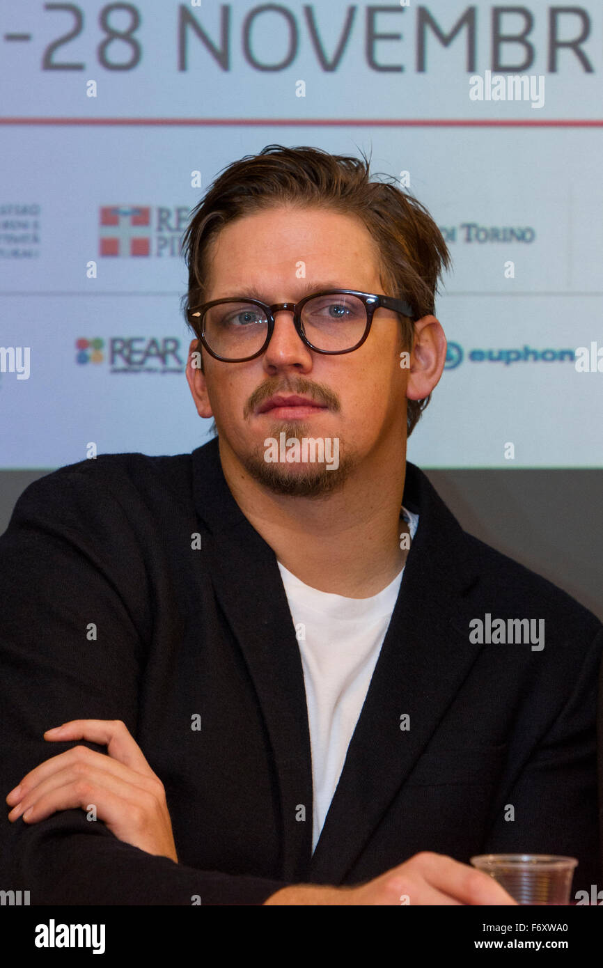 Torino, Italy. 21st November 2015. Film director Jan Ole Gerster attends a press conference at Torino Film Festival. - Stock Image