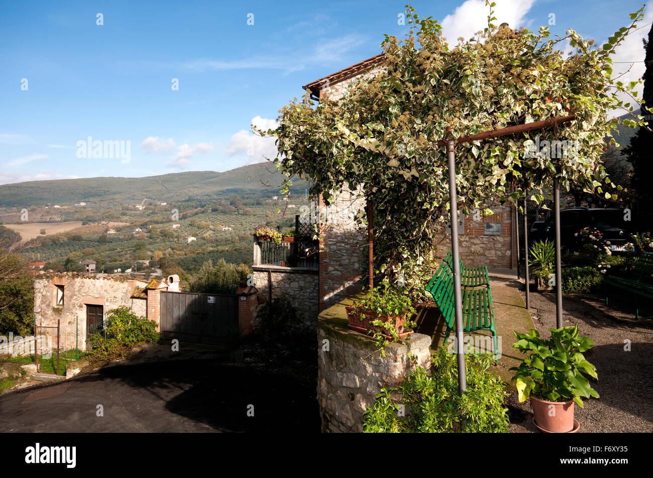 View from Montecchio, Terni, Umbria, Italy Stock Photo