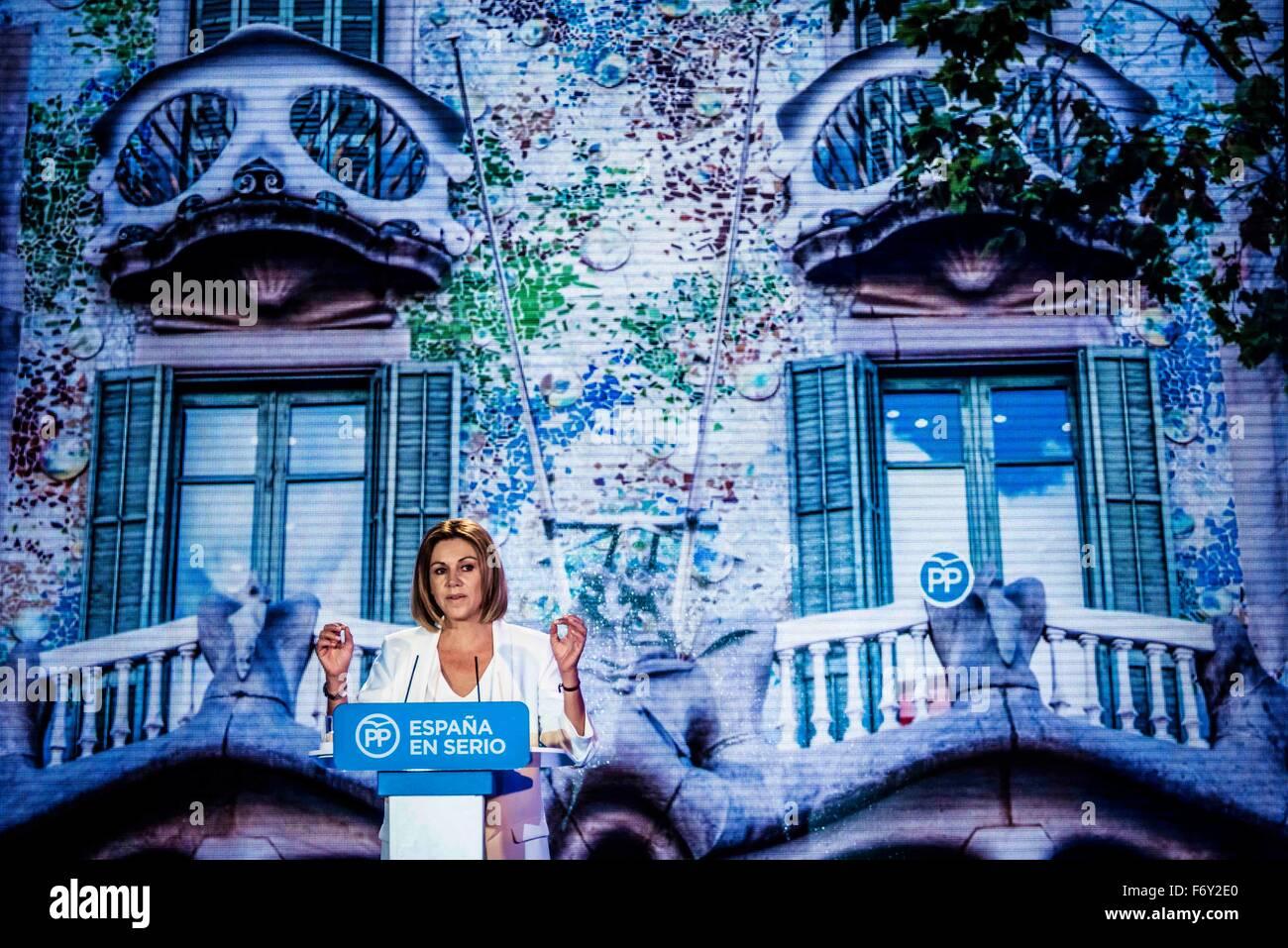 Barcelona, Spain. 21st Nov, 2015. Barcelona, Spain: MARIA DOLORES COSPEDAL, General Secretary of the PP (People's Stock Photo