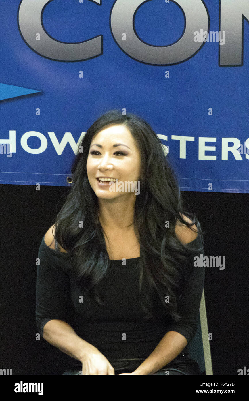 Newcastle, UK, 21st Nov, 2015. Wrestler Gail Kim talks about her career during Film & Comic Con Newcastle at - Stock Image