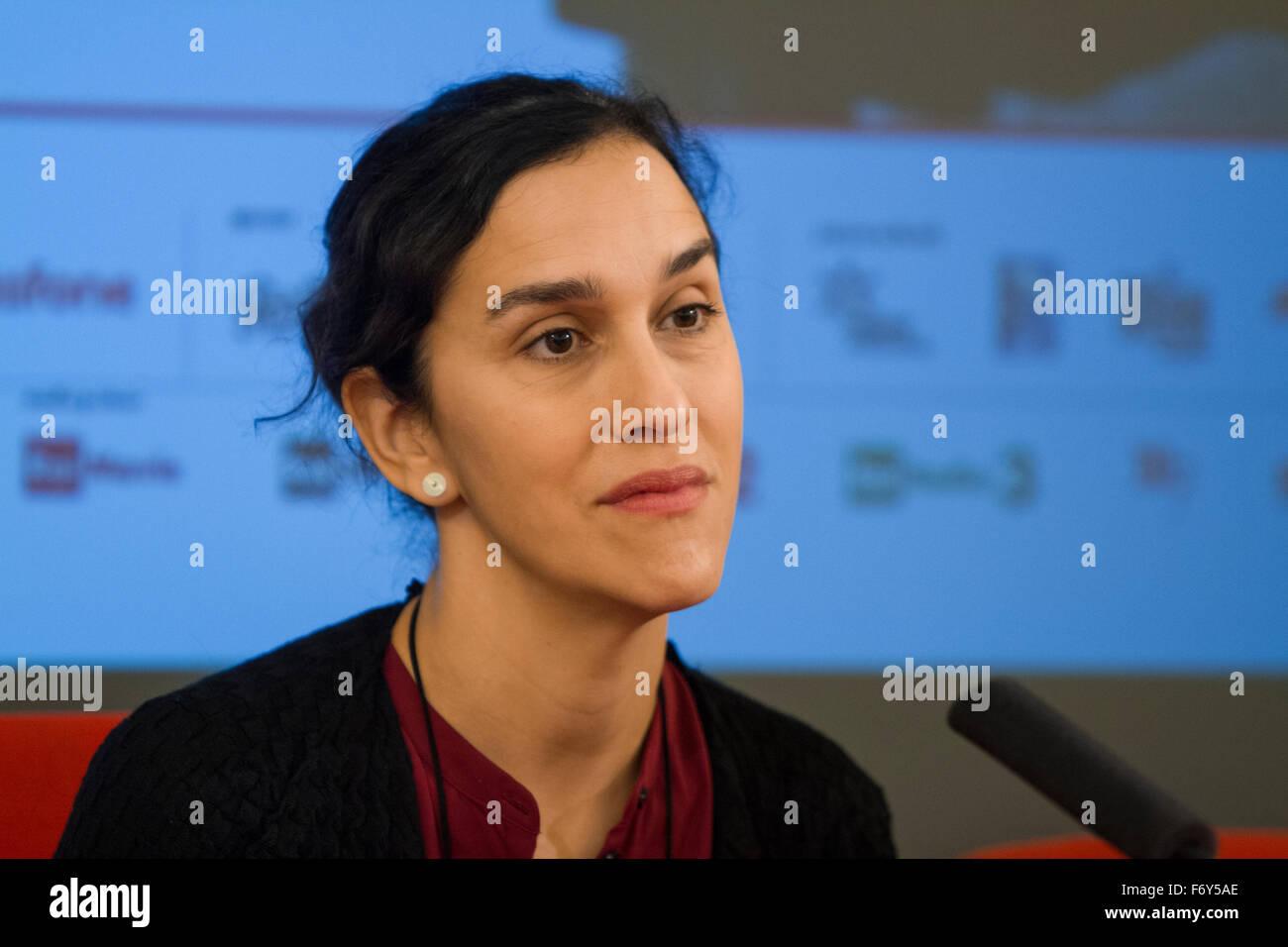 Turin, Italy. 21st Nov, 2015. British film director Sarah Gavron during press conference at Torino Film Festival. Stock Photo