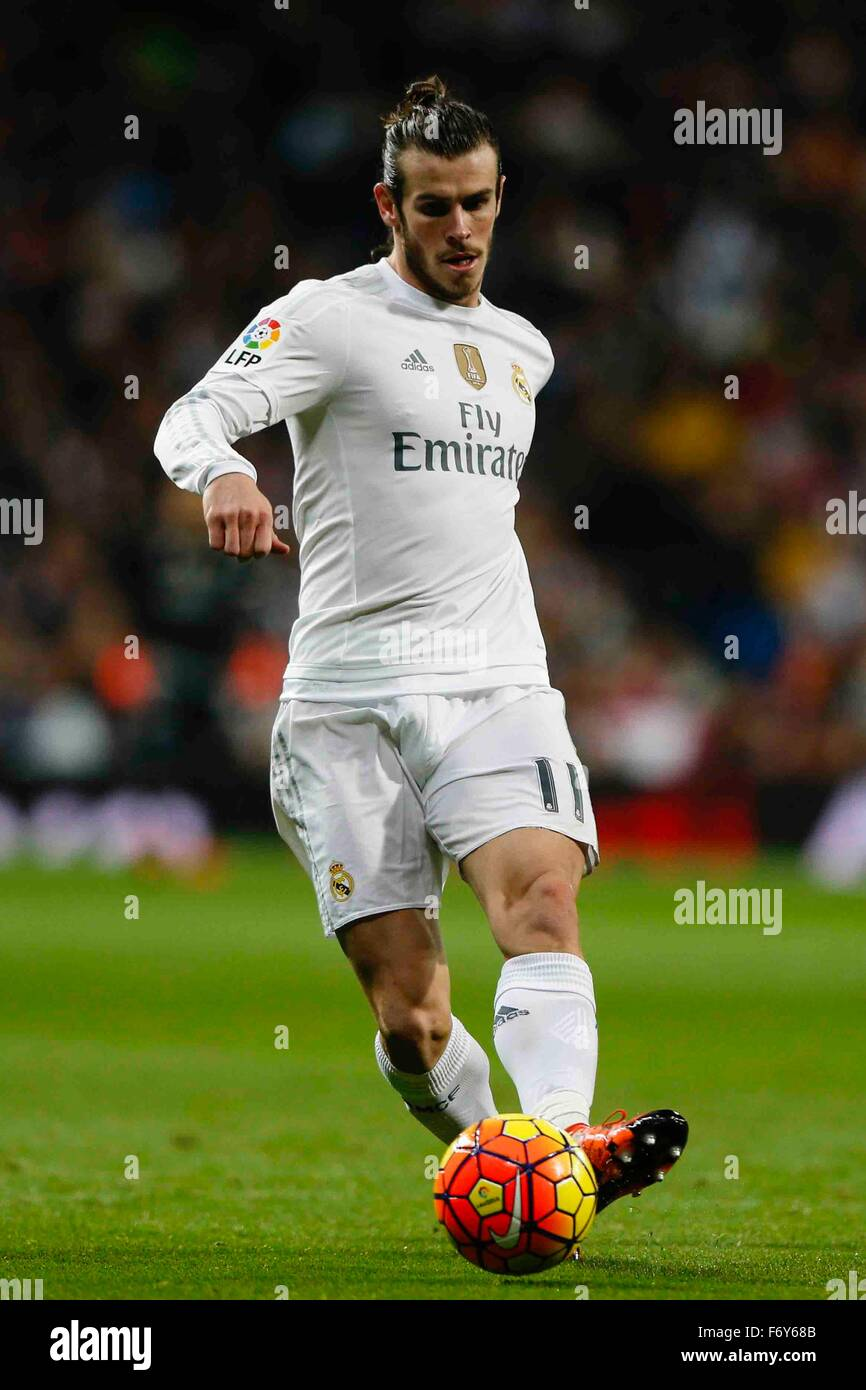 Madrid, Spain. 21st Nov, 2015. Gareth Bale (11) Real Madrid during the La Liga football match between Real Madrid Stock Photo