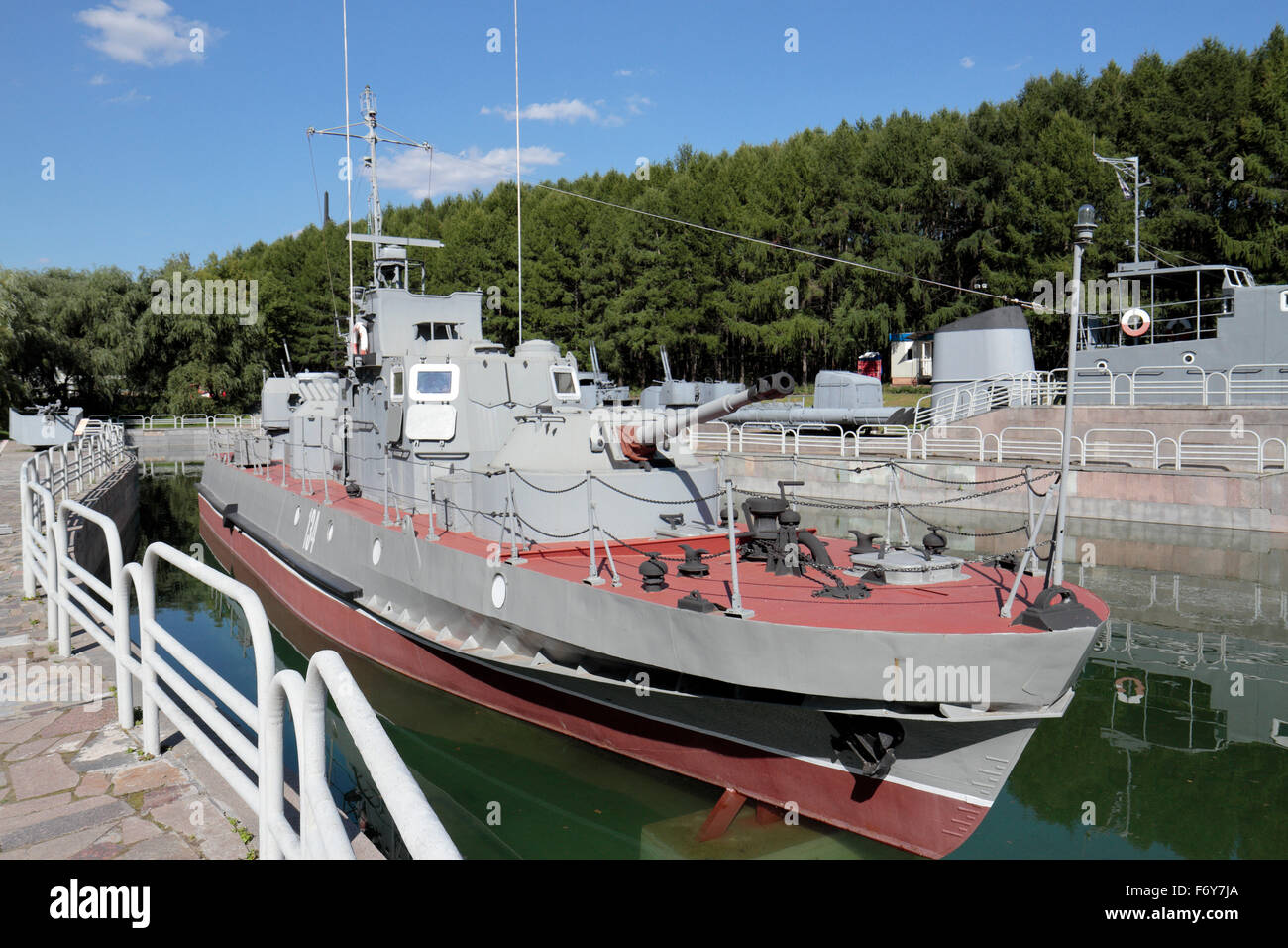 A Soviet Wwii River Patrol Boat In The Exposition Of