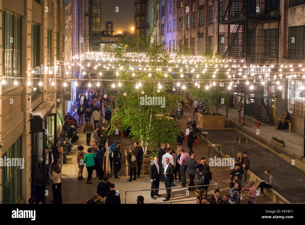 Industry city event Sunset park Brooklyn NYC Stock Photo