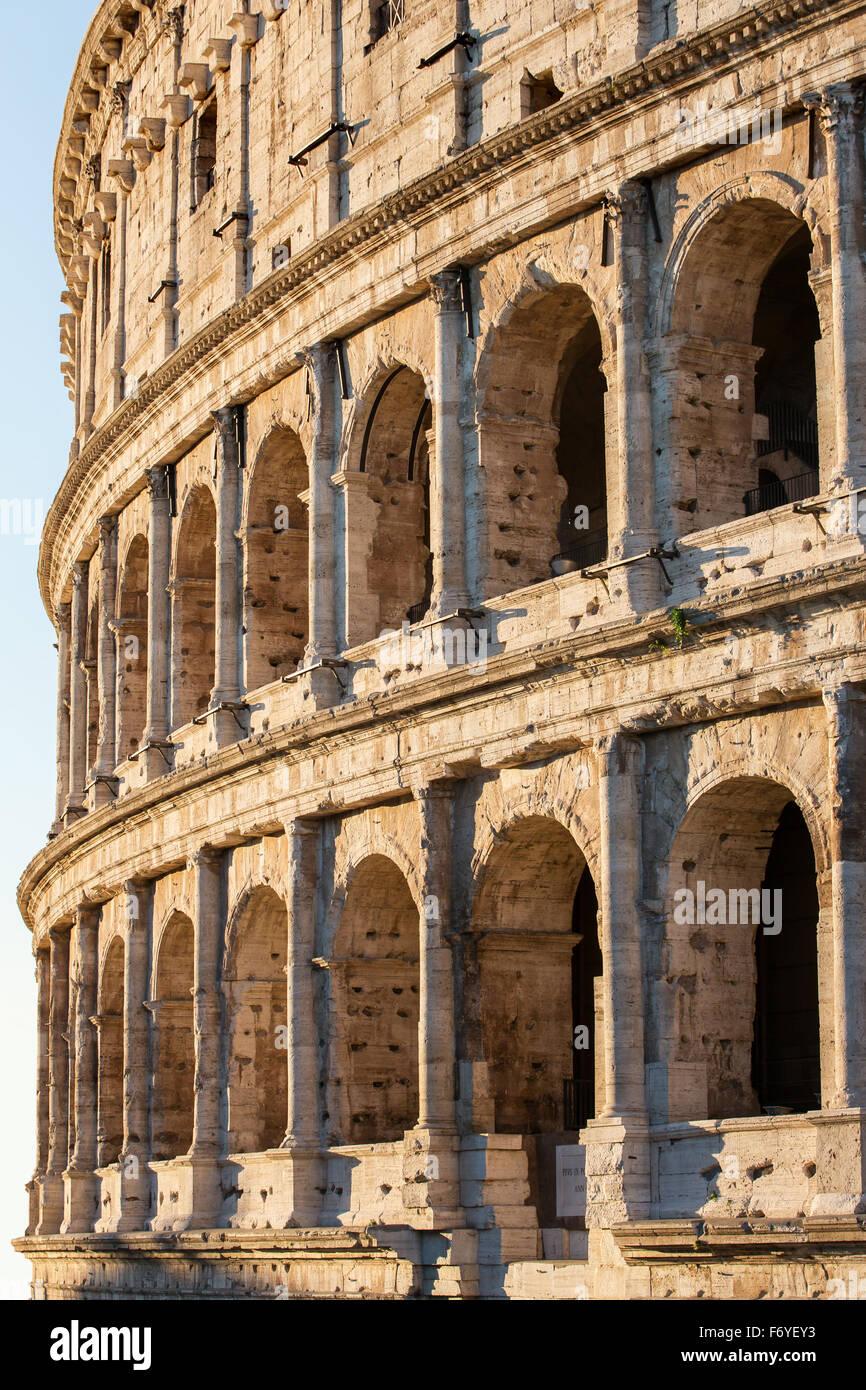 Sunrise Colosseum in Rome, Italy Stock Photo