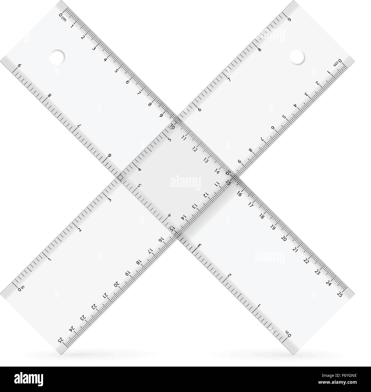 Rulers icon on a white background. Vector illustration. - Stock Vector