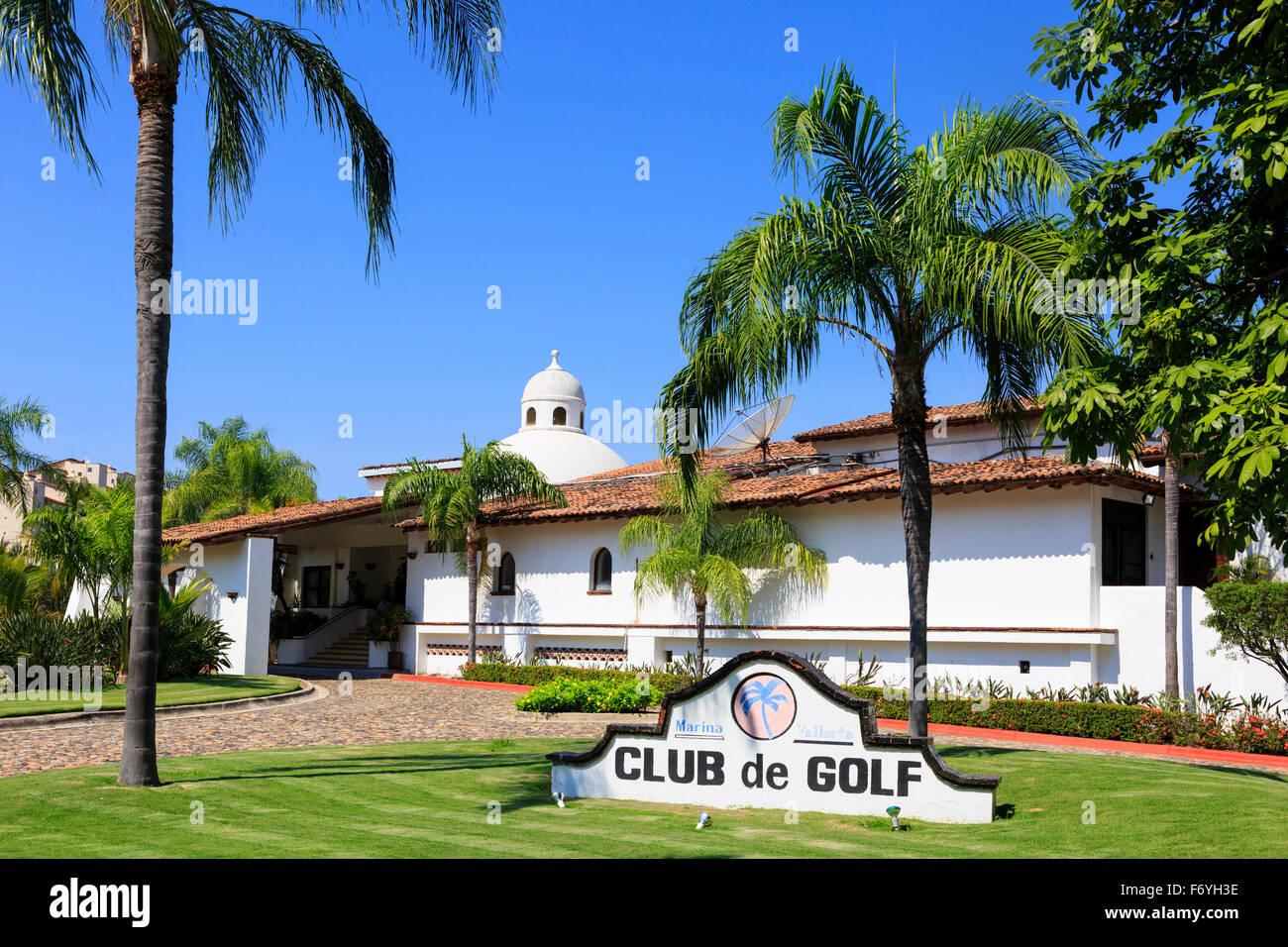 Clubhouse of Marina Vallarta Golf Club, Puerto Vallarta, Mexico - Stock Image