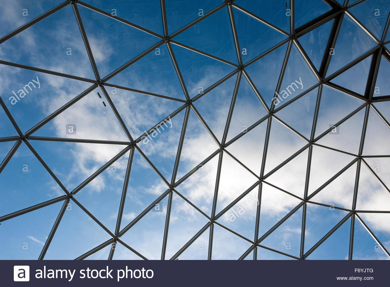 Belfast Northern Ireland Victoria Square shopping centre atrium detail. - Stock Image