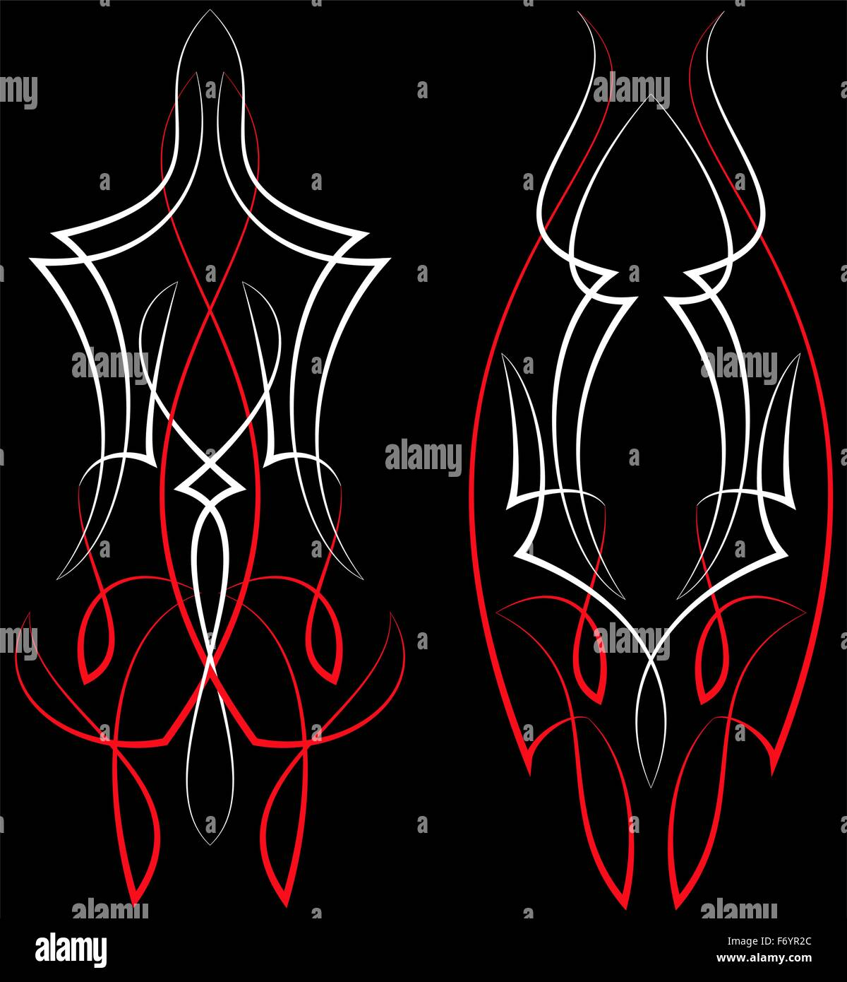 Pinstripe Graphics : Vinyl Ready Vector Art Stock Vector
