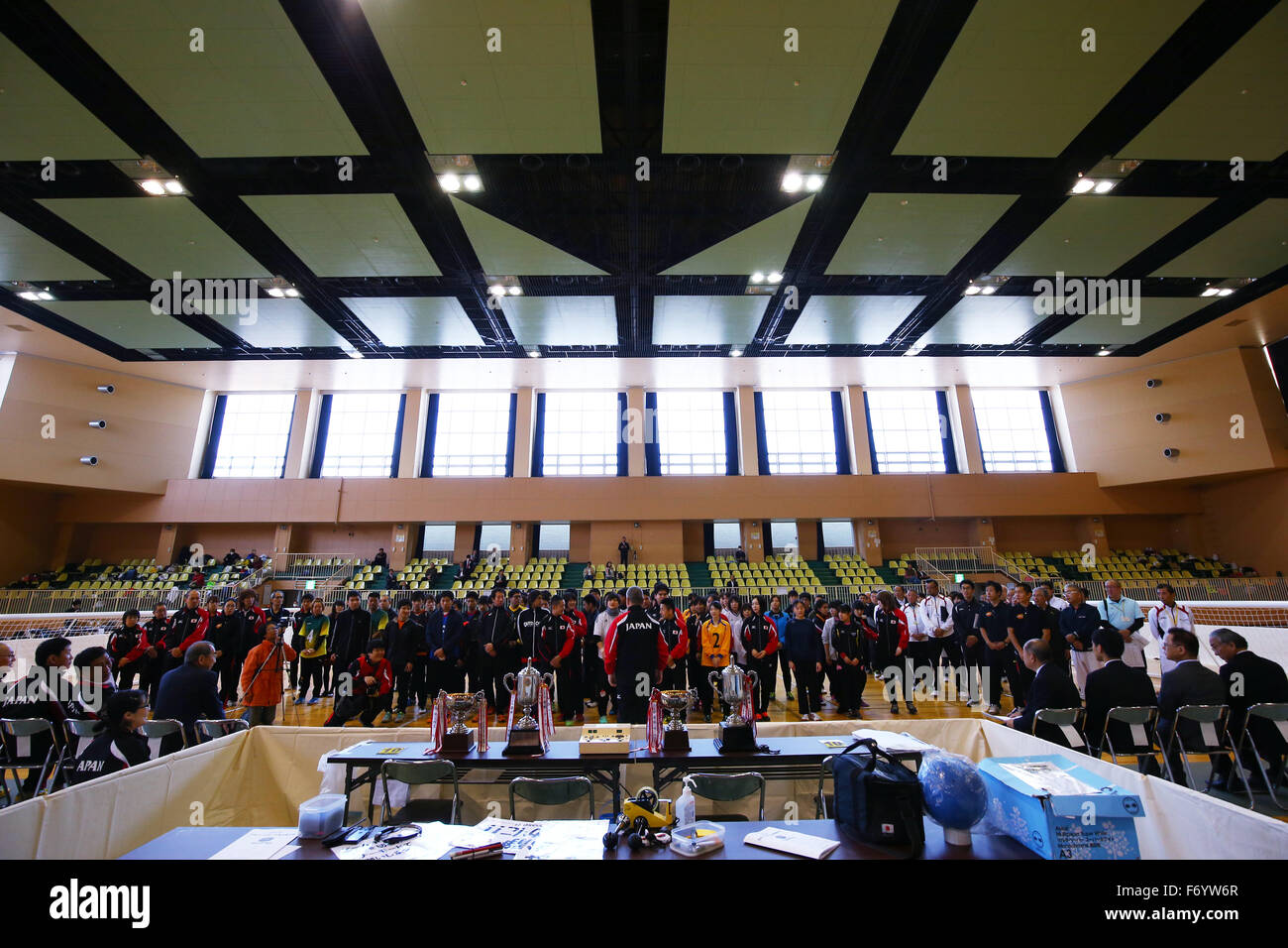 Ohme City general gymnasium, Tokyo, Japan. 21st Nov, 2015. General View, NOVEMBER 21, 2015 - Goalball : 2015 Japan Goalball Championships Opening Ceremony at Ohme City general gymnasium, Tokyo, Japan. Credit:  Shingo Ito/AFLO SPORT/Alamy Live News Stock Photo