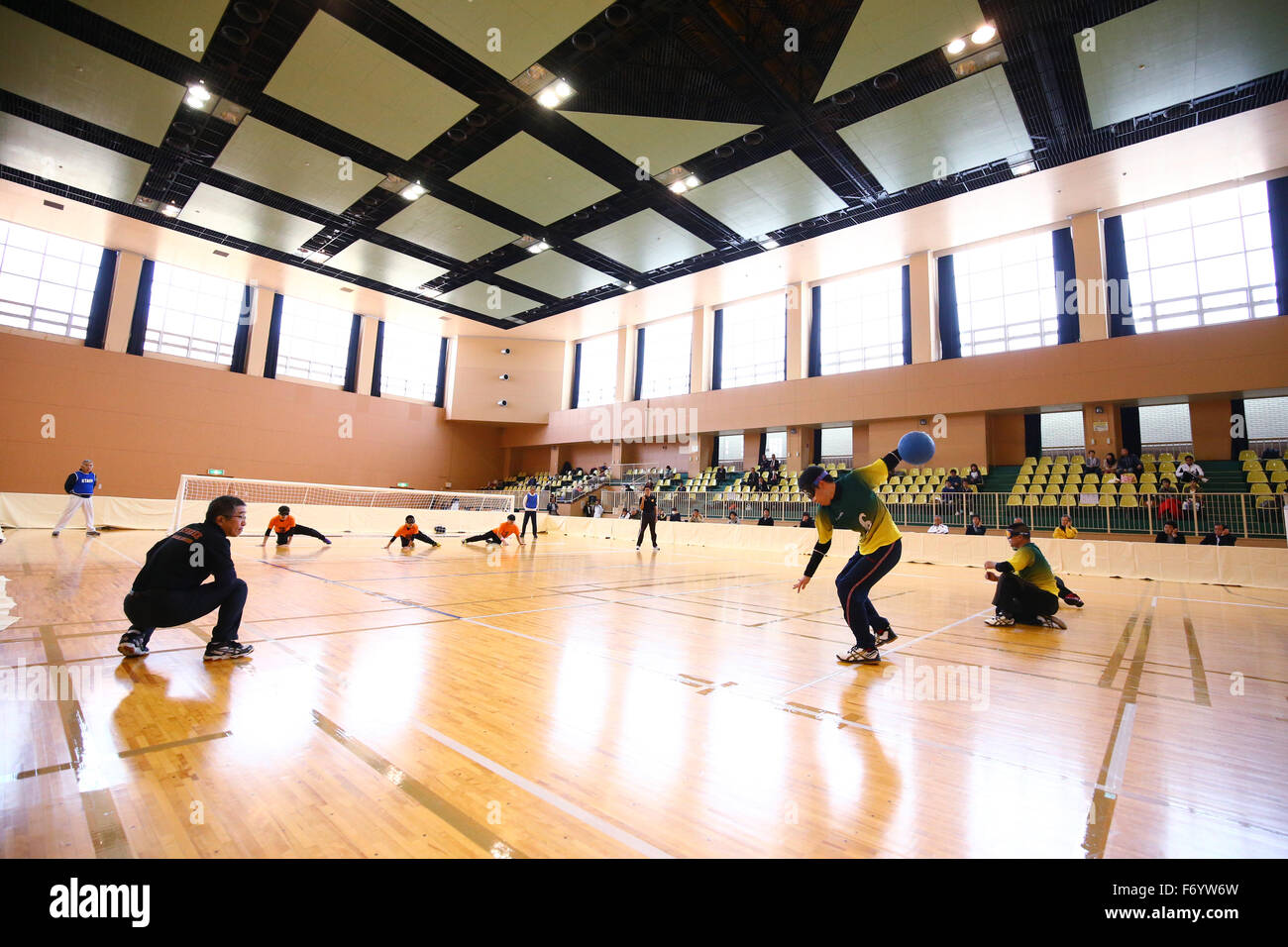 Ohme City general gymnasium, Tokyo, Japan. 21st Nov, 2015. General View, NOVEMBER 21, 2015 - Goalball : 2015 Japan Stock Photo